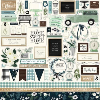 Carta Bella Home Again Stickebogen - Element Sticker