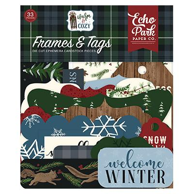 Echo Park Warm & Cozy Die Cuts - Frames & Tags