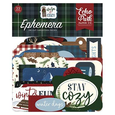 Echo Park Warm & Cozy Die Cuts - Ephemera
