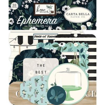 Carta Bella Home Again Die Cuts - Ephemera