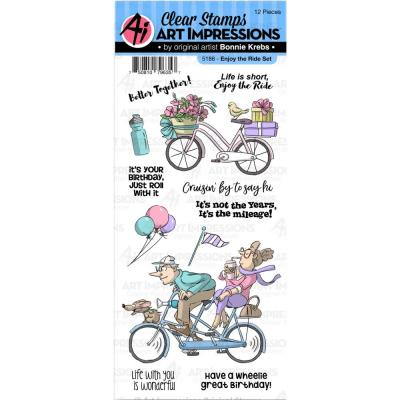 Art Impressions Clear Stamps - Enjoy The Ride