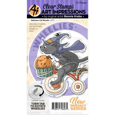 Art Impressions Clear Stamps and Die - Halloween Cat