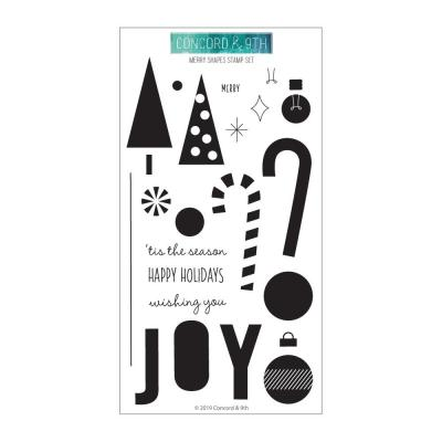 Concord & 9th Clear Stamps - Merry Shapes