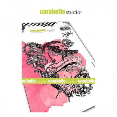 Carabelle Studio Cling Stamp - Collage Steampunk