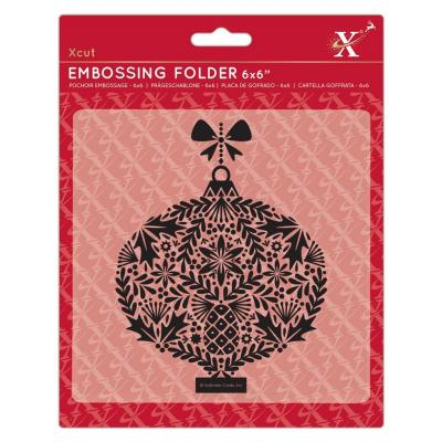 Xcut Embossing Folder - Foliage Bauble