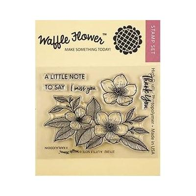 Waffle Flower Clear Stamps - A Little Note