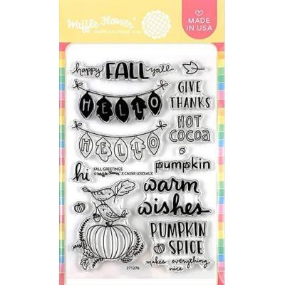 Waffle Flower Clear Stamps - Fall Greetings