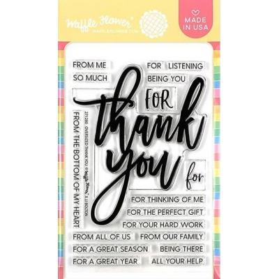 Waffle Flower Clear Stamps - Oversized Thank You