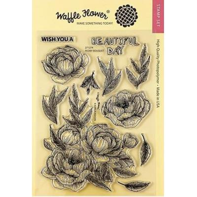 Waffle Flower Clear Stamps - Peony Bouquet