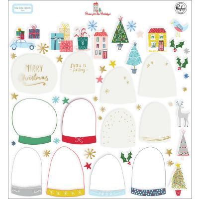 Pinkfresh Studio Home For The Holidays Embellishments Die Cuts - Snow Globe Elements