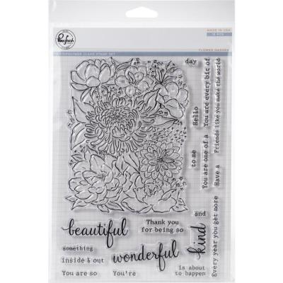 Pinkfresh Studio Clear Stamps - Flower Garden