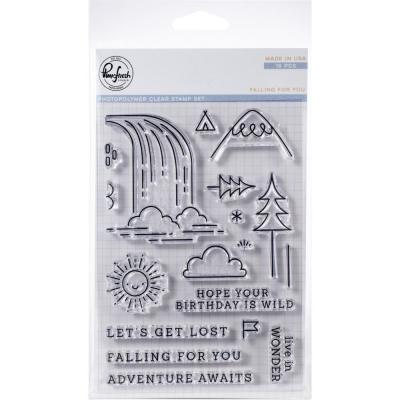 Pinkfresh Studio Clear Stamps - Falling For You