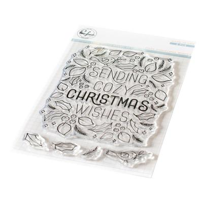 Pinkfresh Studio Clear Stamps - Cozy Christmas Wishes