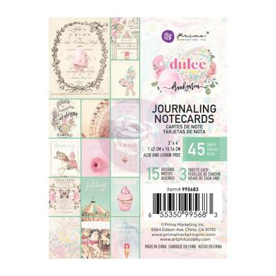 Prima Marketing Dulce By Frank Garcia Designpapier - Journaling Cards 3 x 4