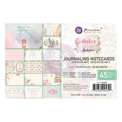 Prima Marketing Dulce By Frank Garcia Designpapier - Journaling Cards 4 x 6