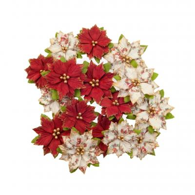 Prima Marketing Christmas In The Country Flowers Embellishments - Kris Kringle
