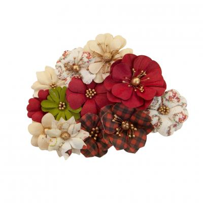 Prima Marketing Christmas In The Country Flowers Embellishments - St. Nick