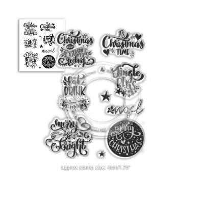 Polkadoodles Clear Stamps -  Merry & Bright Christmas Greetings
