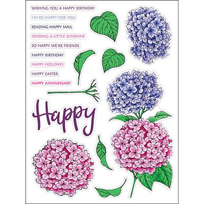 LDRS Creative Clear Stamps - Hydrangeas