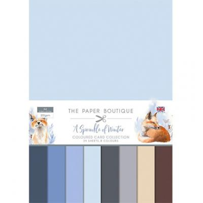 The Paper Boutique A Sprinkle of Winter Cardstock - Card Collection