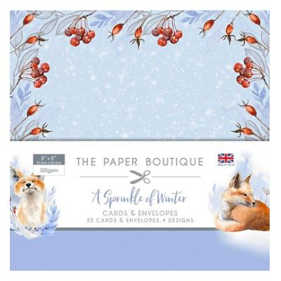 The Paper Boutique A Springle of Winter - Card & Envelope Pack