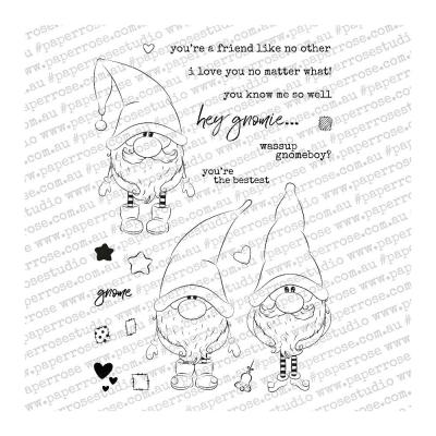 Paper Rose Clear Stamps -  Gnomies