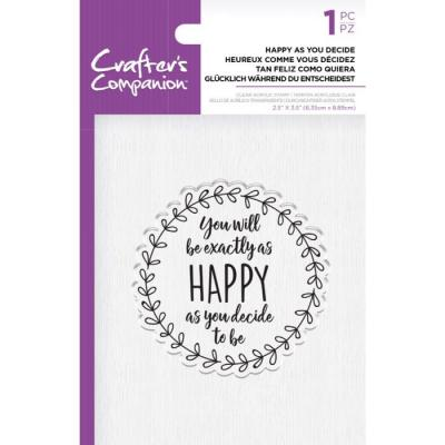 Crafter's Companion Clear Stamp - Happy as you Decide