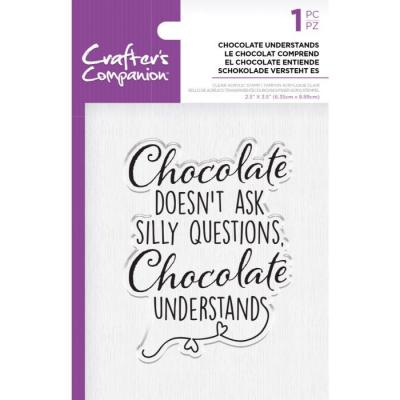 Crafter's Companion Clear Stamp - Chocolate Understands