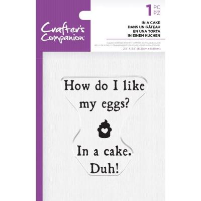 Crafter's Companion Clear Stamp - In a Cake