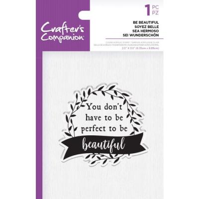 Crafter's Companion Clear Stamp - Be Beautiful