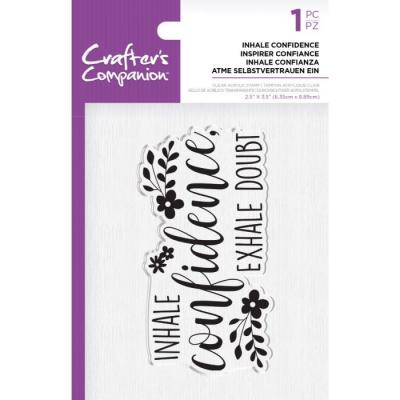 Crafter's Companion Clear Stamp - Inhale Confidence