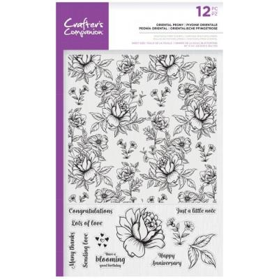 Crafter's Companion Clear Stamps - Oriental Peony Background