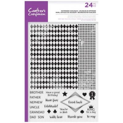 Crafter's Companion Clear Stamps - Distressed Harlequin Background