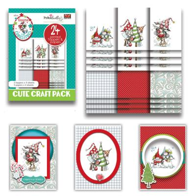Polkadoodles Cute Craft Topper Pack - Gnome for Christmas