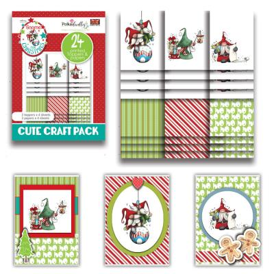 Polkadoodles Cute Craft Topper Pack - Gnome Ho Ho Cute