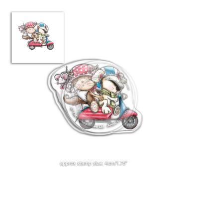 Polkadoodles Clear Stamp - Horace & Boo Scooting Along