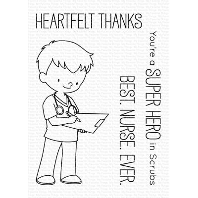 My Favorite Things Clear Stamps - Super Hero in Scrubs