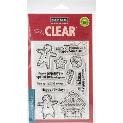 Hero Arts Clear Stamps - Christmas Gingerbread Cookies