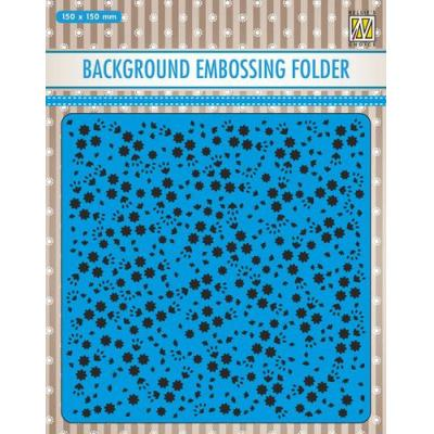 Nellie's Choice Embossing Folder - Hintergrund Blumen