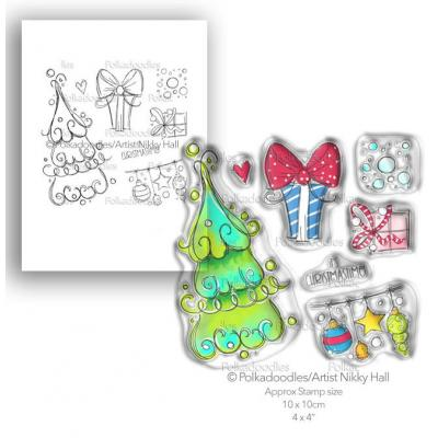 Polkadoodles Clear Stamps - Curly Christmas