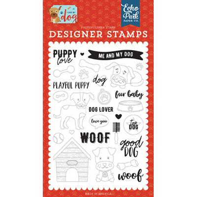 Echo Park I Love My Dog Clear Stamps - Puppy Love