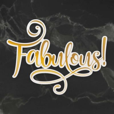 Couture Creations Cut, Foil and Emboss Die - Fabulous