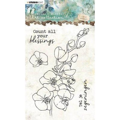 StudioLight Jenine's Mindful Clear Stamps - Orchidee Nr.08