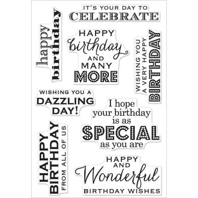 Hero Arts Clear Stamps - Birthday Wishes