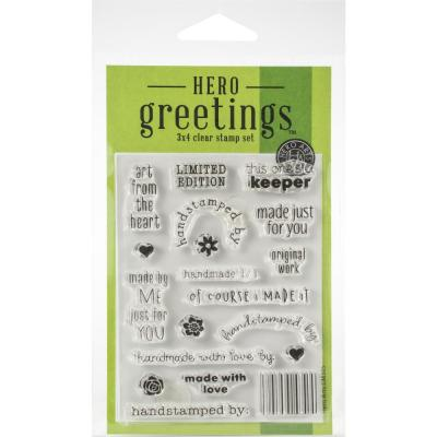 Hero Arts Greetings Clear Stamps - Limited Edition