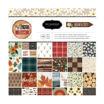 American Crafts Pebbles Designpapier - Warm & Cozy