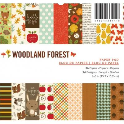 American Crafts Pebbles Designpapier - Woodland Forest
