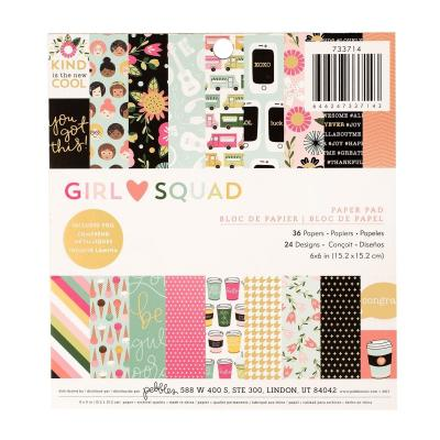 American Crafts Pebbles Designpapier - Girl Squad