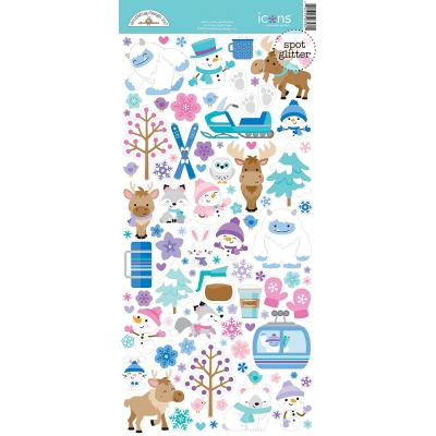 Doodlebug Winter Wonderland - Icons Cardstock Sticker