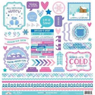 Doodlebug Winter Wonderland - This & That Sticker